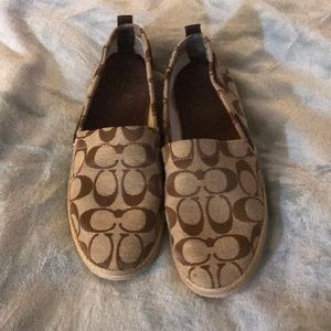 Coach Loafer Espadrille Size 8